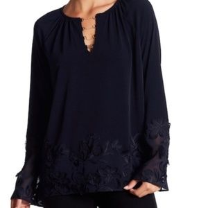 Laurie Neck-Chain Embellished Knit Top True Navy M